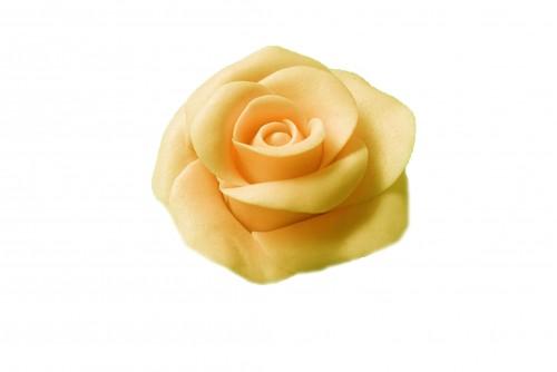 Marcipán rózsa levéllel