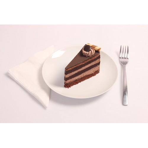 Dupla csokitorta szelet